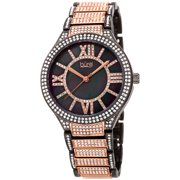Burgi Womens Mother of Pearl Dial Two Tone Alloy Watch [BUR185RG]