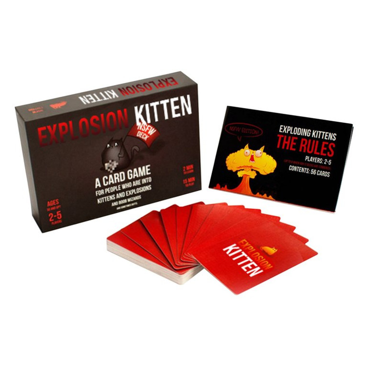 Family Entertainment Cards EXPLODING KITTENS Game Cards For Party Board Games