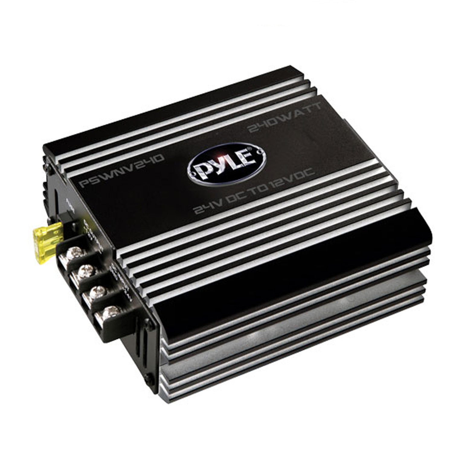 Pyle 24V DC to 12V DC Power Step Down 240 Watt Converter W/ PMW Technology