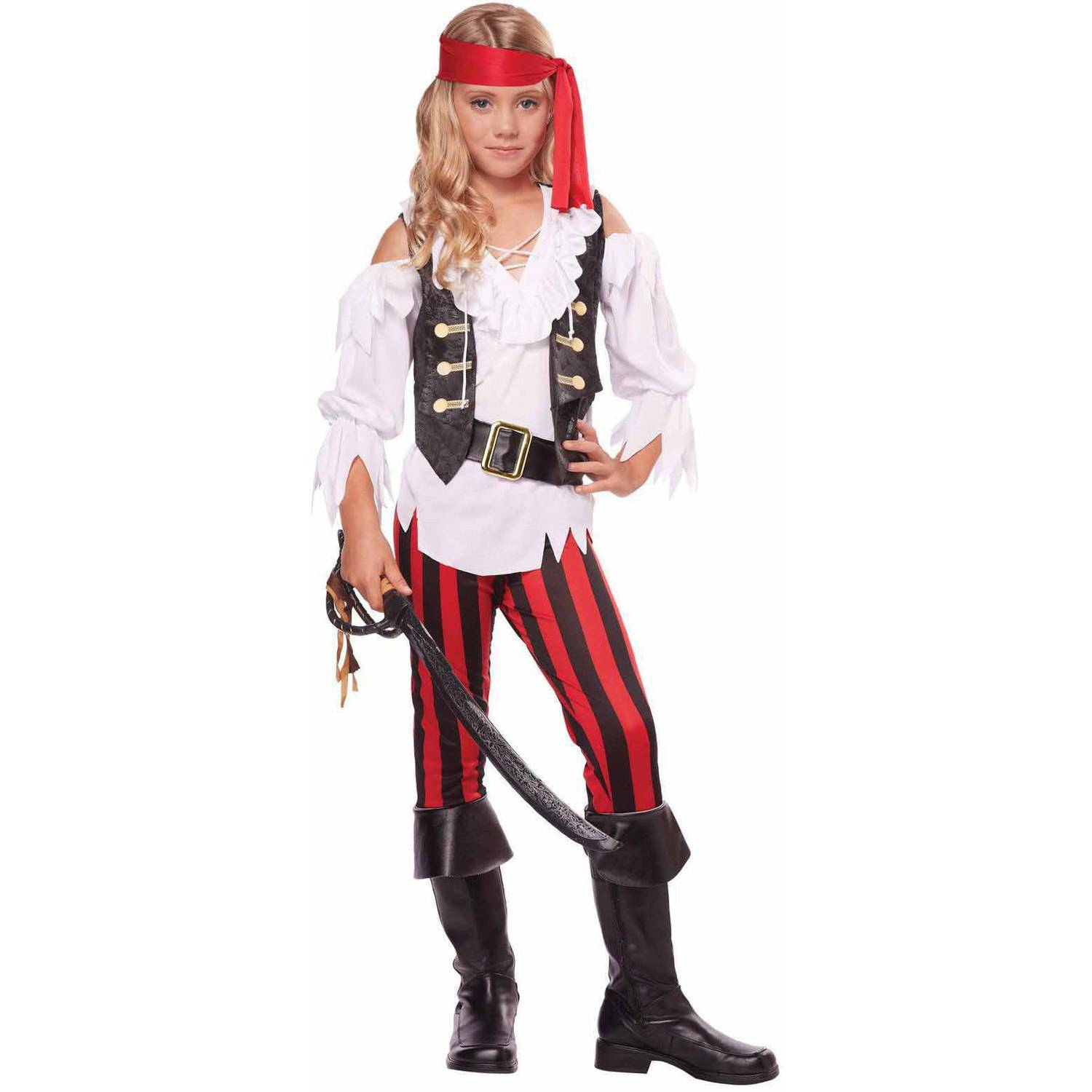 sc 1 st  Walmart & Posh Pirate Girlsu0027 Child Halloween Costume - Walmart.com