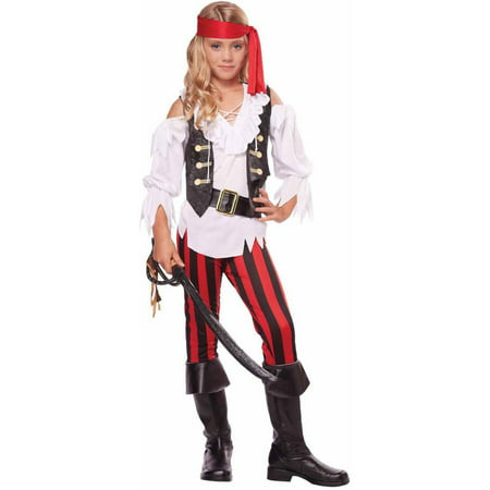 Posh Pirate Girls' Child Halloween Costume](Female Pirate Costume Makeup)