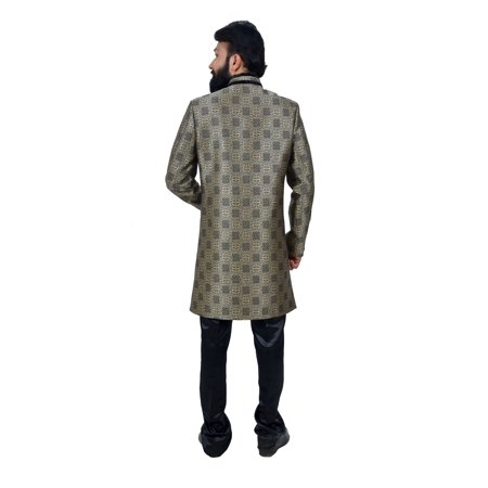 Multi Art Brocade Silk Traditional Indian Wedding Indo-Western Sherwani for Men. This product is custom made to order. - image 5 de 6