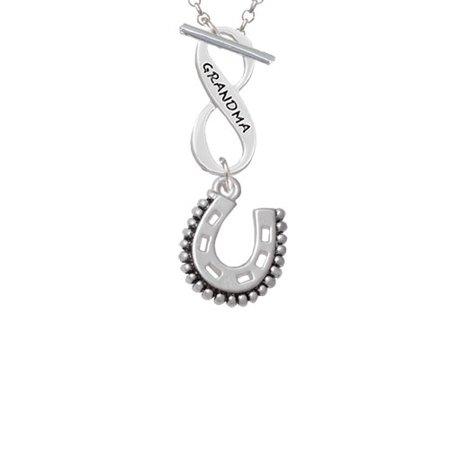 Beaded Horseshoe Grandma Infinity Toggle Chain - Bead Chain Necklace
