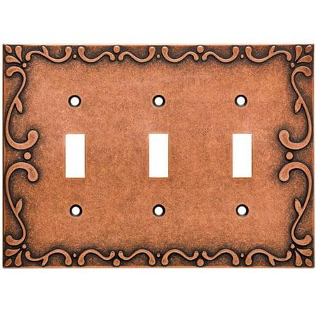 Polished Brass Triple Switch (Franklin Brass Classic Lace Triple Switch Wall Plate)