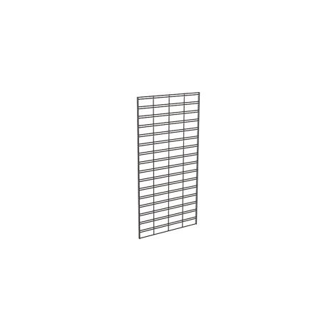 Econoco Metal Slat Grid for Any Retail Display or Home Storage, 2' Width x 4' Height, 3 Grids Per Carton (Black)
