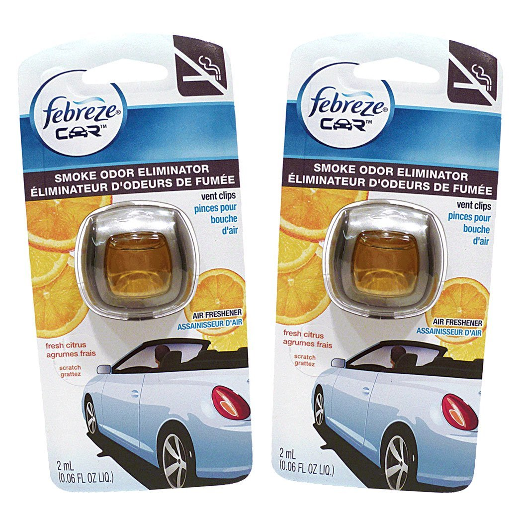 8 PACKS : Febreze Car Vent Clips Air Freshener Smoke Odor...