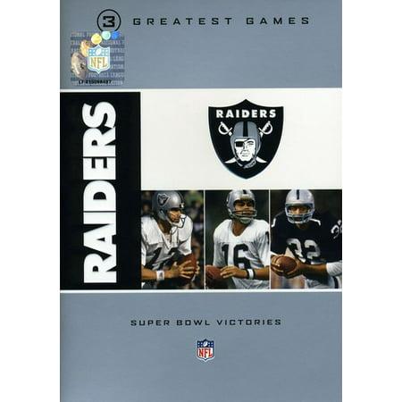 NFL Oakland Raiders 3 Greatest Games: Super Bowl (DVD)