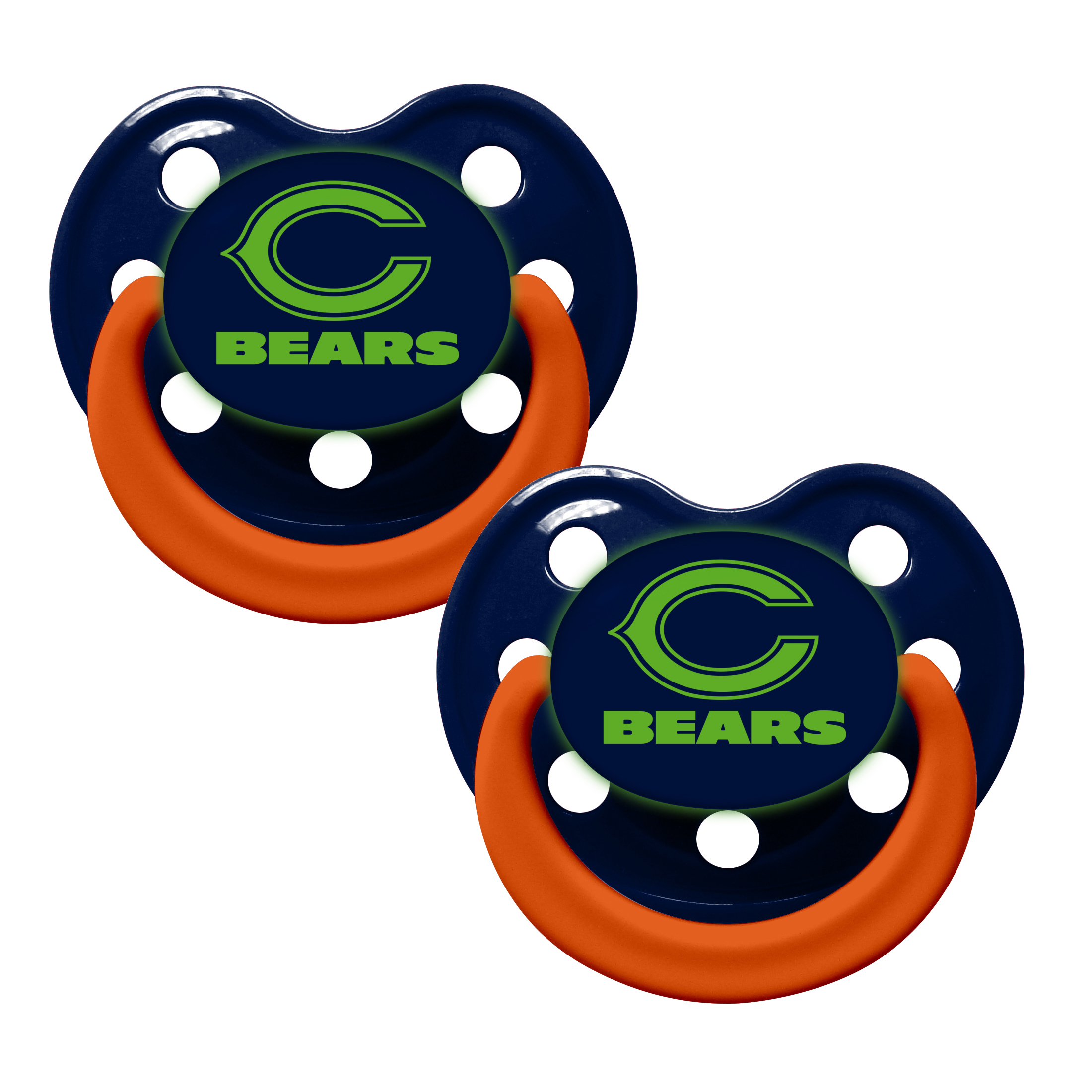 NFL Chicago Bears Glow in the Dark 2-Pack Pacifiers