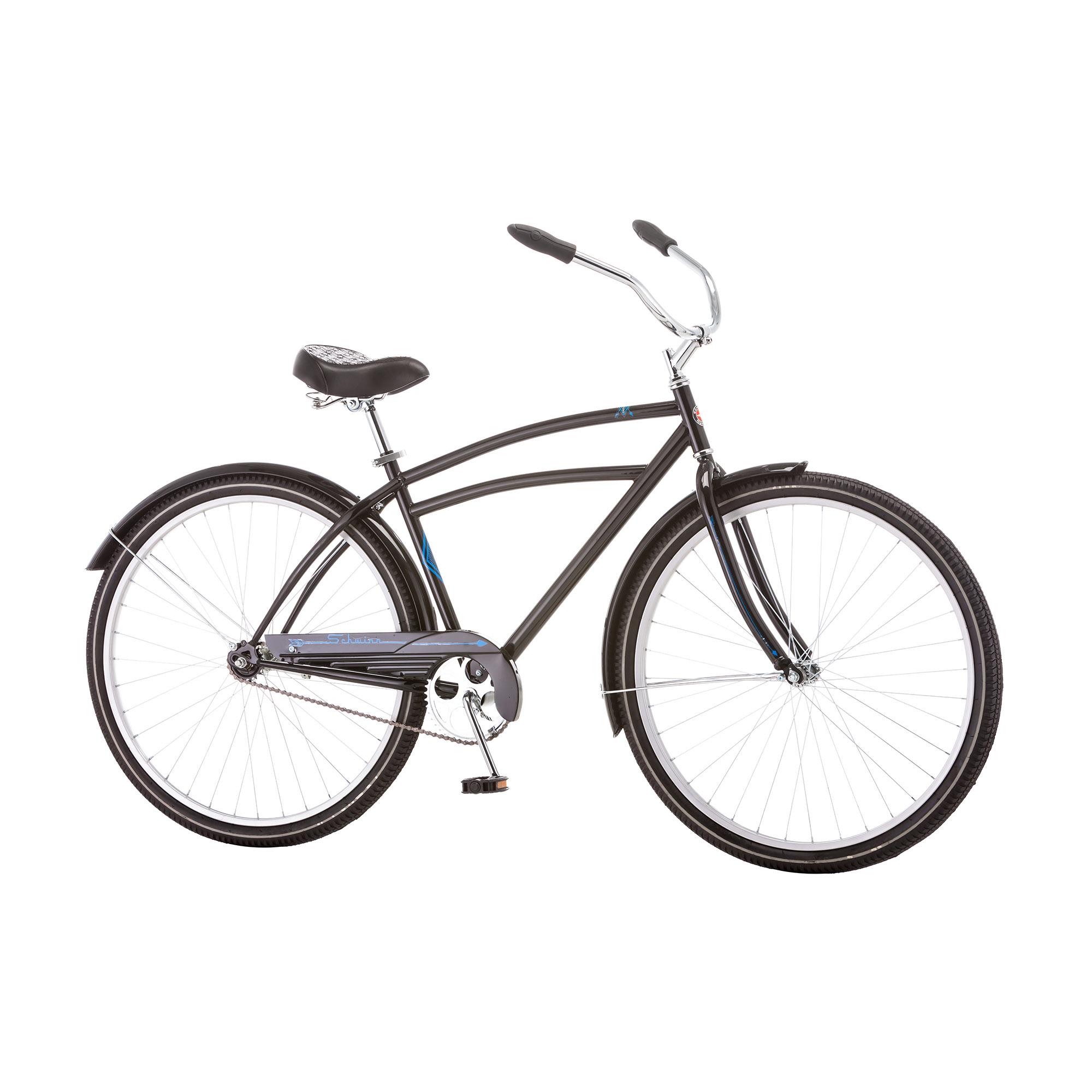 "Schwinn Gammon 29"" Men's Retro Style Single Speed Comfort Cruiser Bicycle, Black"