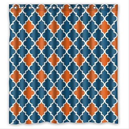 Ganma Moroccan Orange And Navy Cornflower Blue Moroccan tile ...