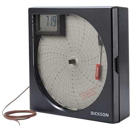 DICKSON KT8P3 Temperature Chart Recorder, KThermocouple