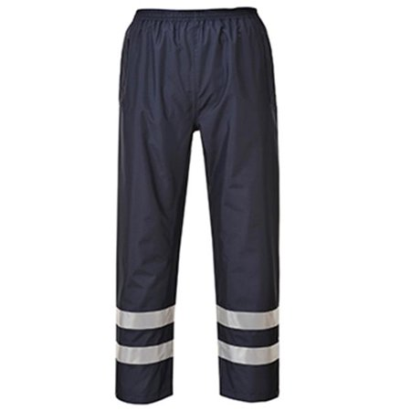 - S481 Large Iona Lite Hi Visibility Waterproof Trousers, Navy - Regular
