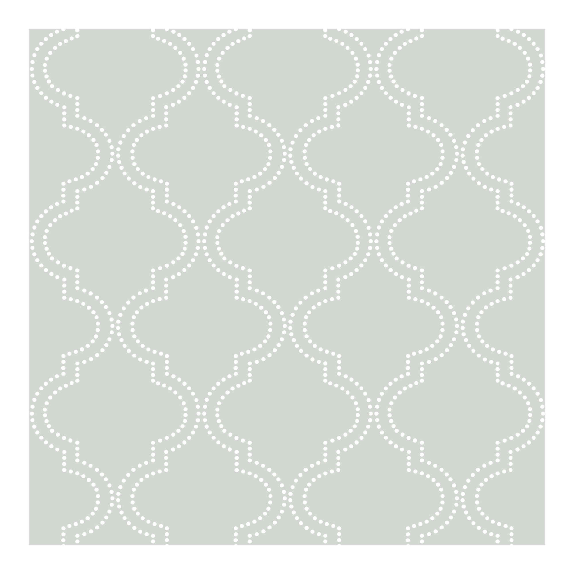 NuWallpaper Grey Quatrefoil Peel & Stick Wallpaper
