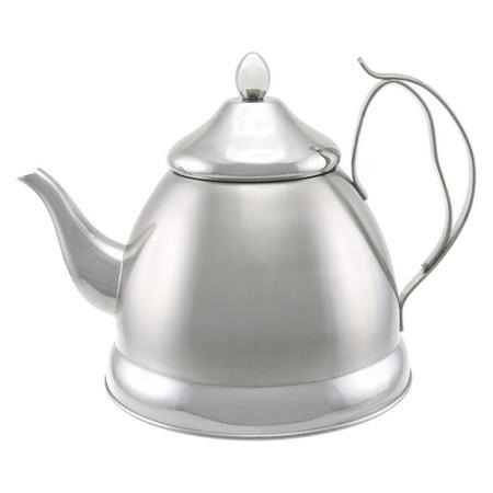 Creative Home Nobili-Tea 2 qt. Stainless Steel Tea Kettle with Tea Infuser