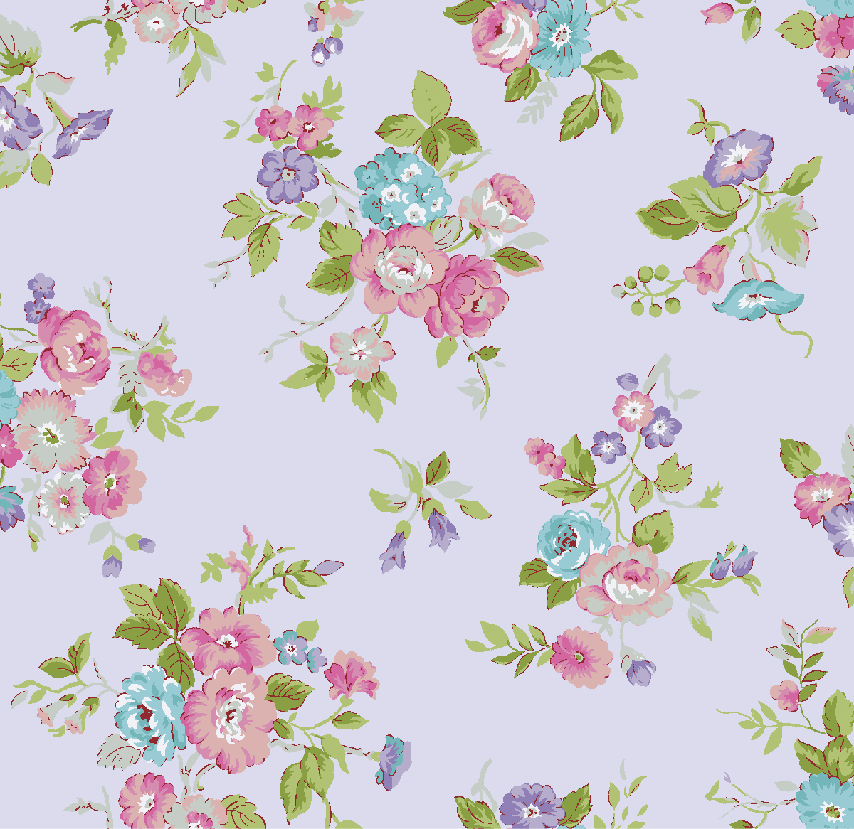 Waverly Inspirations Floral carnation 100% Cotton Print Fabric 44'' Wide, 140 Gsm, Quilt Crafts Cut By The Yard