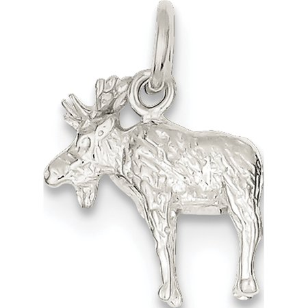 Leslies Fine Jewelry Designer 925 Sterling Silver Moose (16x17mm) Pendant Gift