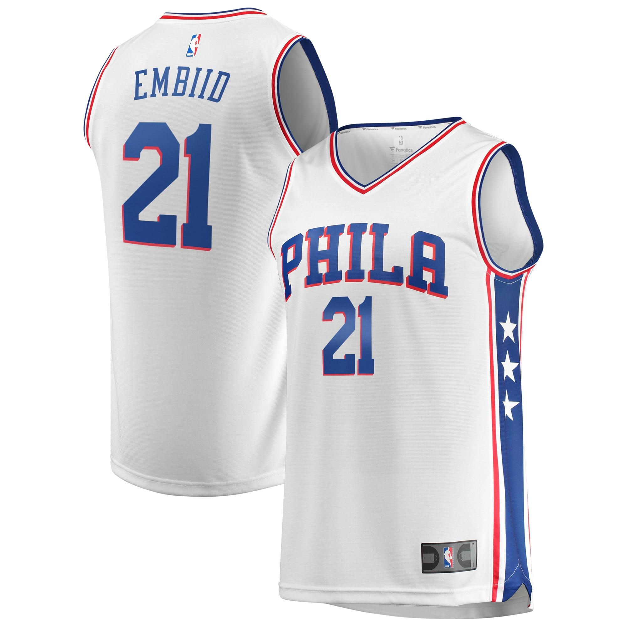 Joel Embiid Philadelphia 76ers Fanatics Branded Fast Break Replica Jersey White - Association Edition