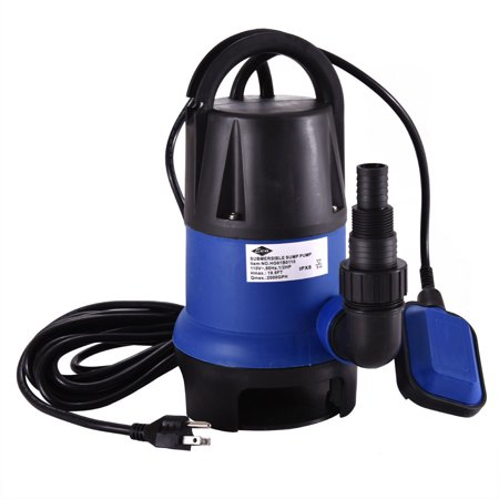 Jaxpety 1/2 HP 400W Dirty Clean Water Submersible Pump Pond Water Transfer with Float Switch Heavy Duty Swimming Pool