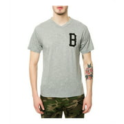Black Scale Mens The B Logo V-Neck Graphic T-Shirt