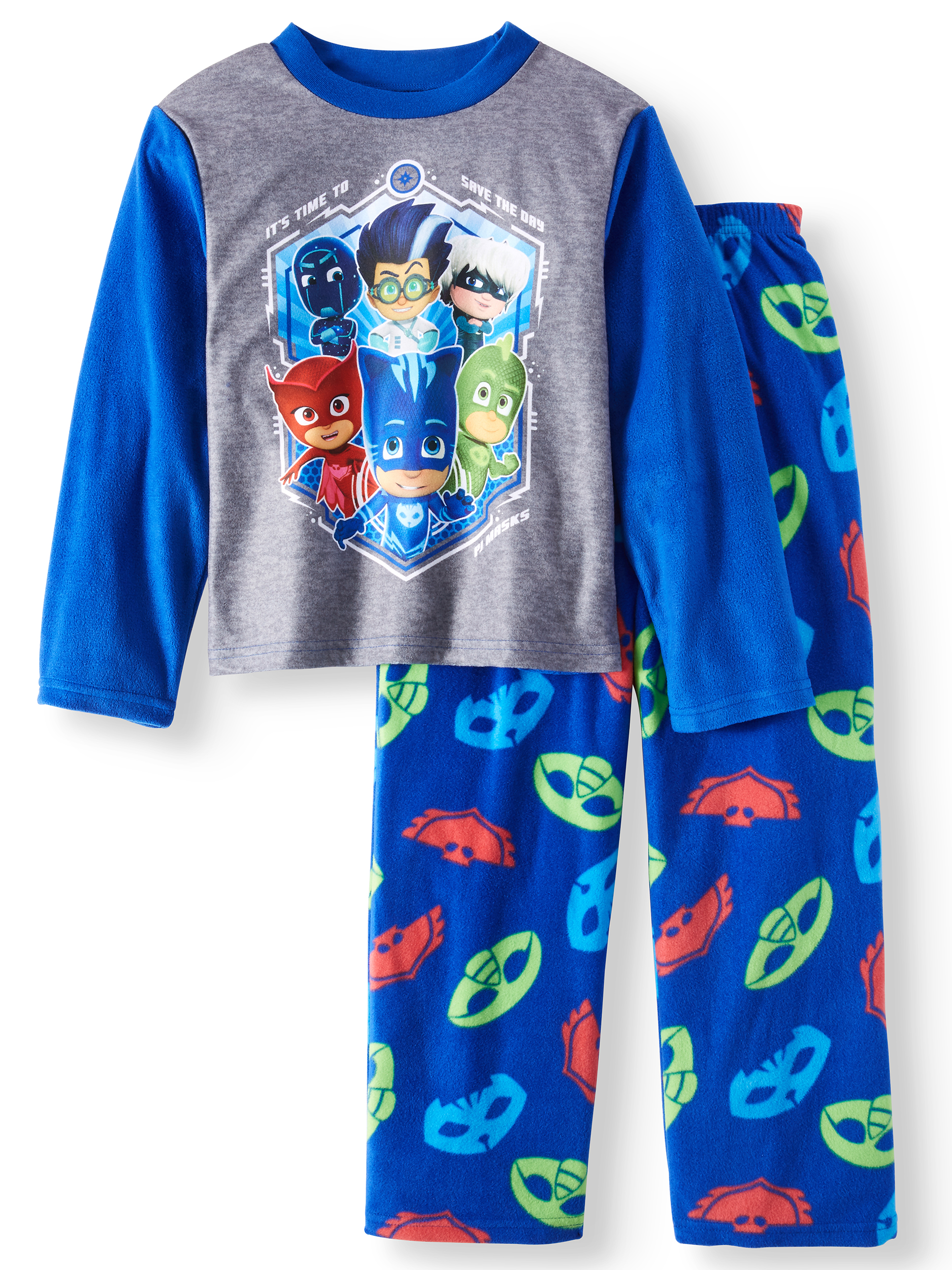 PJ Masks Boys' 2-Piece Long Sleeve Pajama Sleep Set