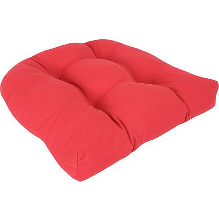 Jordan Manufacturing Outdoor Patio Tufted Wicker Seat Cushion
