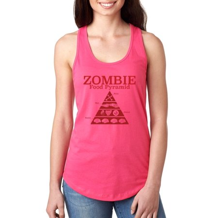 Artix Zombie Food Pyramid Halloween Costume Party Gift Match W Hats Bags Jeans Leggings Women's Next Level Ladies' Ideal Racerback Tank Clothes - Food Party Halloween