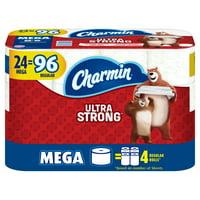 Charmin Ultra Strong Toilet Paper, 24 Mega Rolls = 96 Regular Rolls
