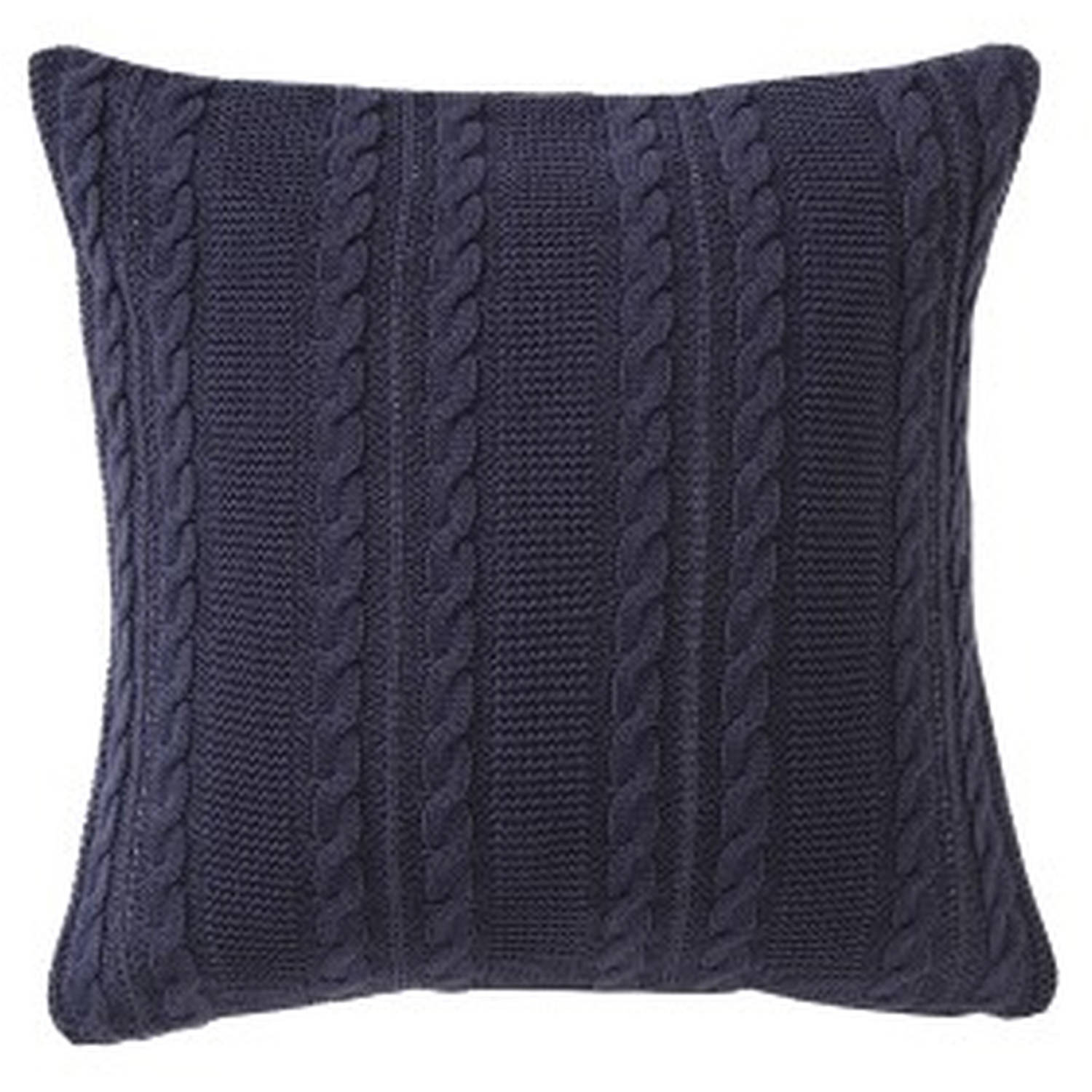 "VCNY Home Solid Dublin Cable Knit 26"" x 26"" Square Decorative Euro Sham, Multiple Colors Available"