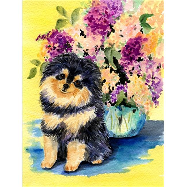 Carolines Treasures SS8290CHF Pomeranian Canvas Flag - House Size, 28 x 40 in. - image 1 of 1