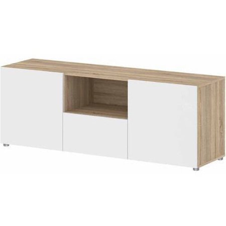 Tvilum Dawson TV Stand for TVs up to 56;, White and Oak