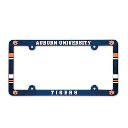 - Auburn Tigers Official NCAA 12 inch x 6 inch Plastic License Plate Frame by Wincraft