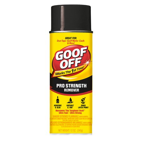 Special Paint Remover (Goof Off Pro Strength Remover Aerosol, 12oz)