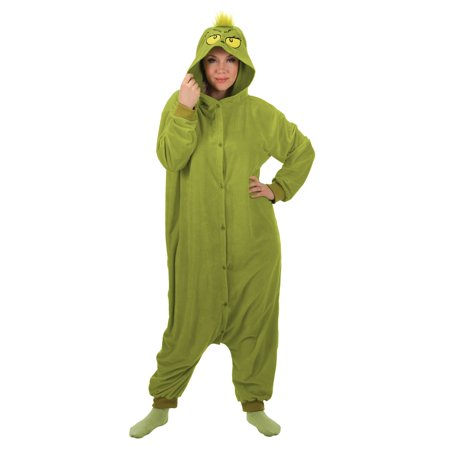 The Grinch Adult Kigurumi Halloween Costume](Halloween Is Grinch Night Vhs)