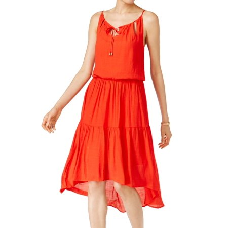 Sangria NEW Red Women's Size 8 A-Line Cutout Split Neck Hi-Low Dress (Best Red Sangria Recipe)
