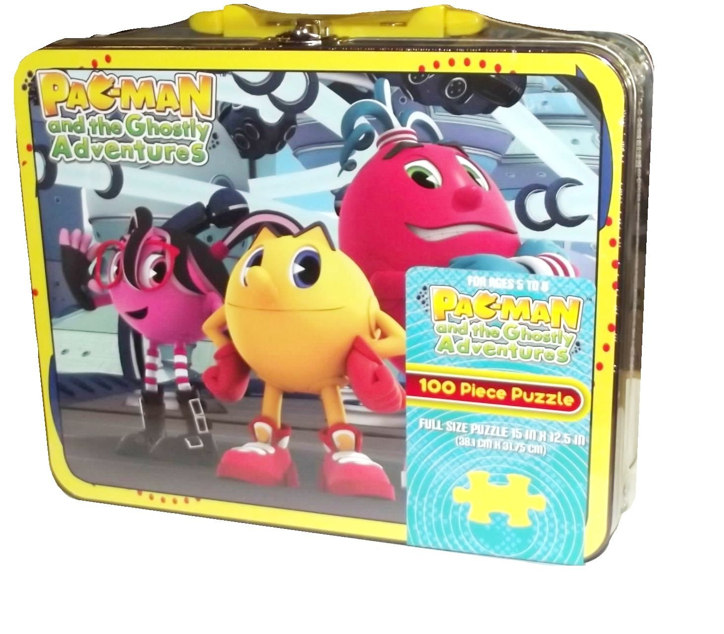 Pac-Man and the Ghostly Adventures Group 100 Piece Puzzle Tin By Pressman Toy Corp Ship from US by