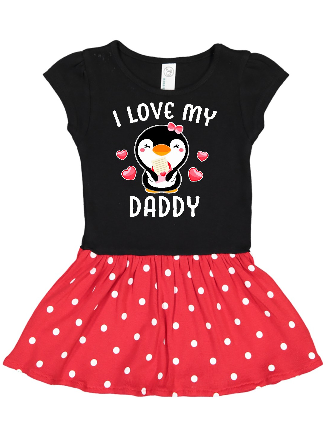 inktastic I Love My Daddy with Cute Penguin and Hearts Toddler T-Shirt