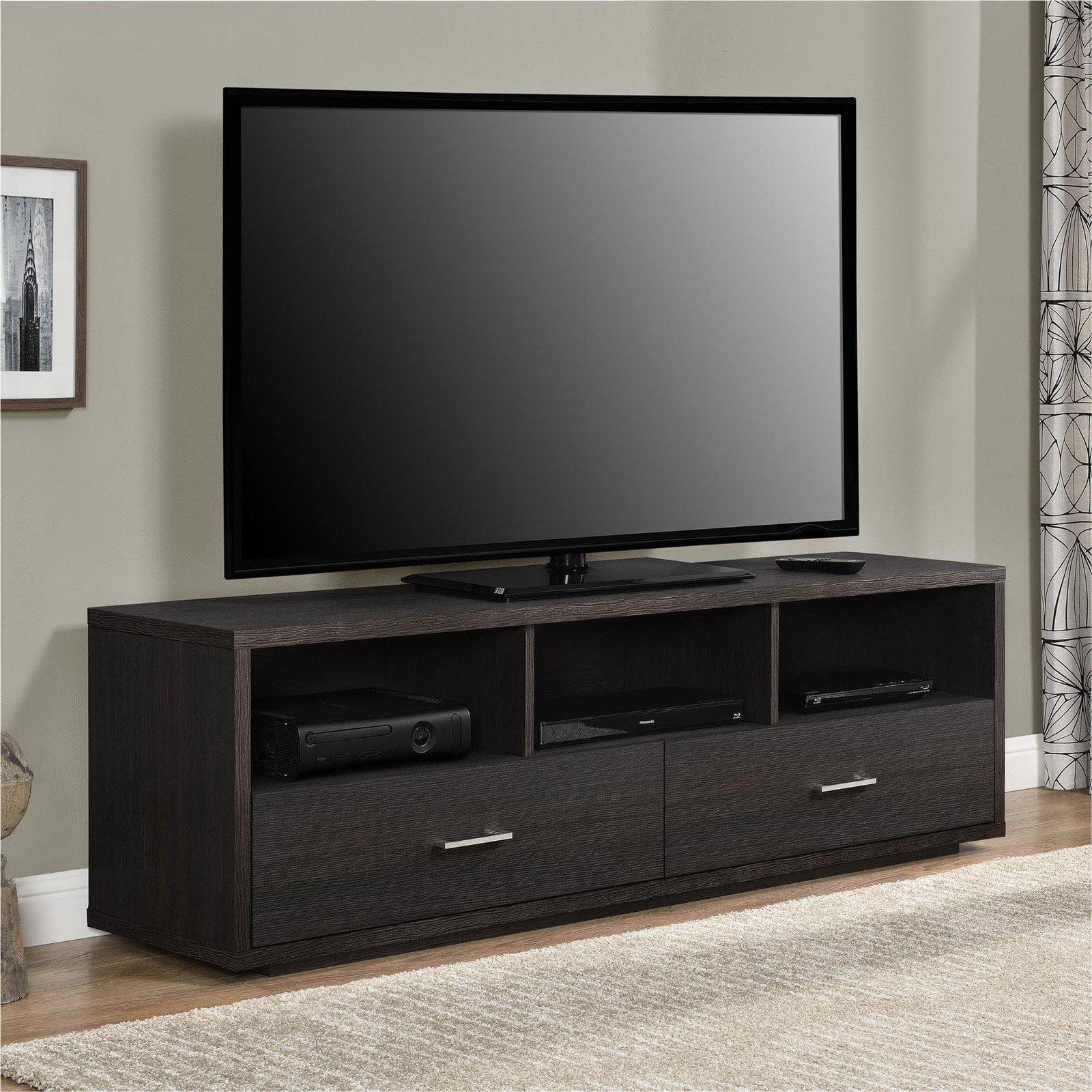 Ameriwood Home Clark Tv Stand For Tvs Up To 70 Espresso Walmartcom