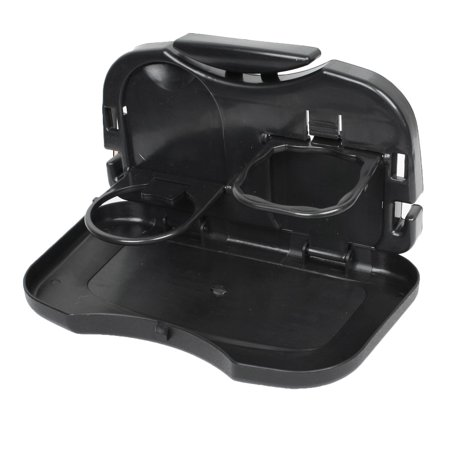 - Durable Plastic Folding Truck Auto Back  Car Cup Holder Stand for Meal Drink Beverage Black