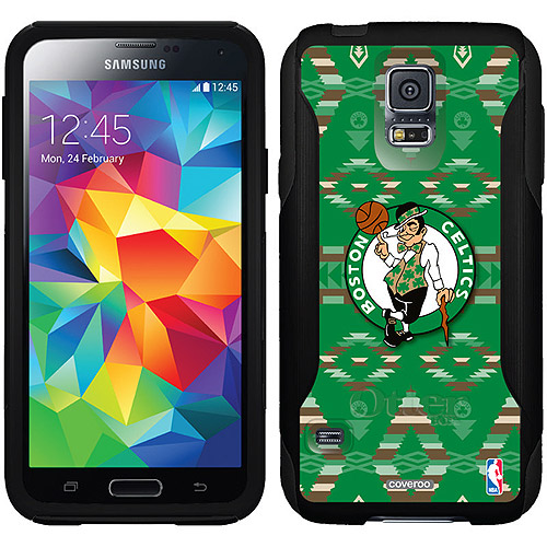 Boston Celtics Tribal Print Design on OtterBox Commuter Series Case for Samsung Galaxy S5