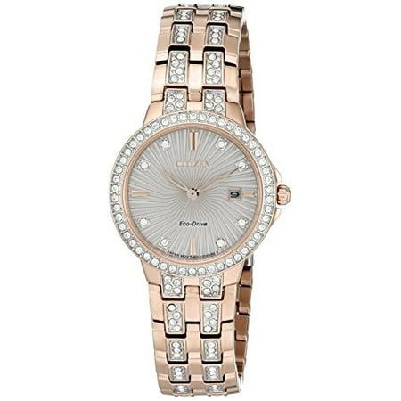 Women's 'Silhouette' Quartz Stainless Steel Casual Watch (Model: EW2348-56A)