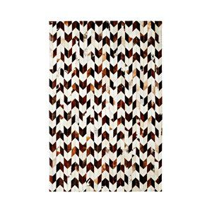 Dynamic Rugs LW7108106106 Leatherwork 7 x 10 8106-106 Rug - Ivory-Brown