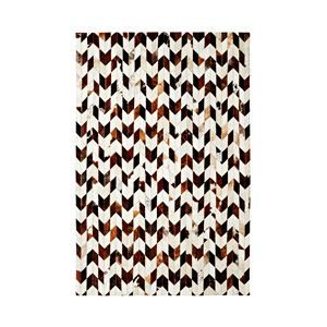 Dynamic Rugs 8106-106 Leatherwork Area Rug Ivory/Brown 7-ft 10-ft