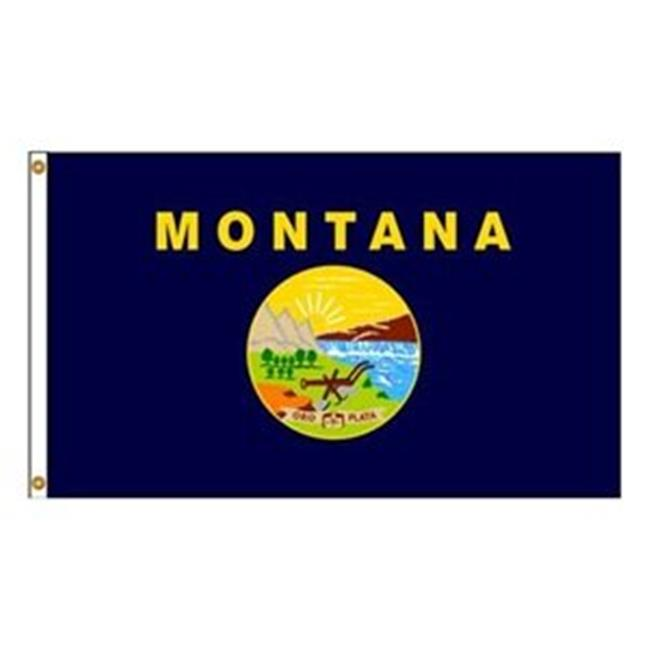 Annin Flagmakers 143170 4 ft. X 6 ft. Nyl-Glo Montana Flag