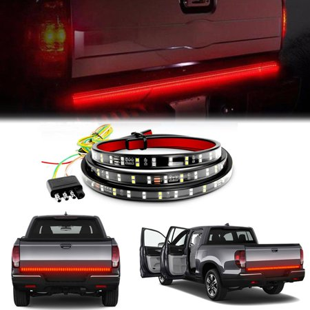 Vehicle Tail Light Converter (GTP 60 Inch 2-Row LED Tailgate Light Bar Reverse Brake Signal Tail Light Strip Red/White For Car Truck Pickup Rv Van SUV)