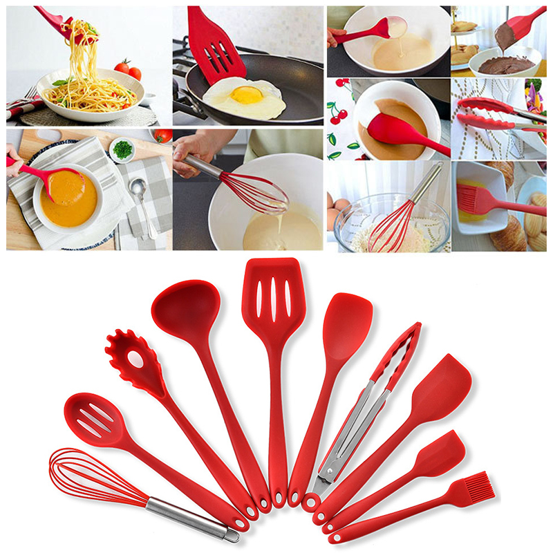 jeobest silicone cooking utensils - cookware utensils set