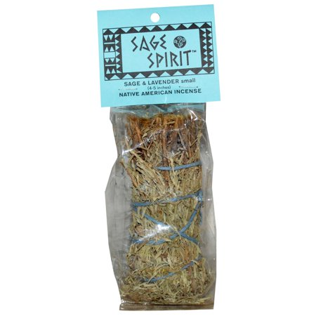 Native American Sage (Sage Spirit, Native America Incense, Sage & Lavender, Small, 4-5 Inches(pack of 4) )