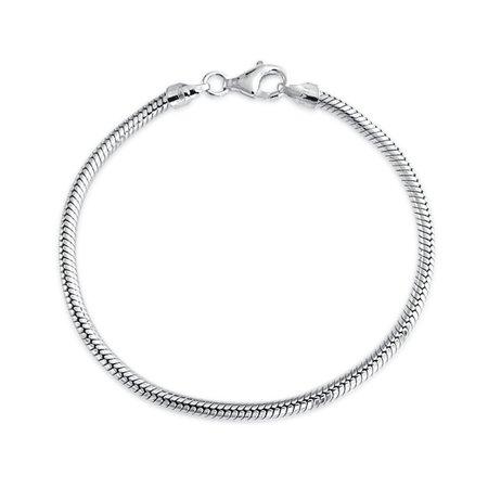 Sterling Silver Bracelet Snake Chain 3mm