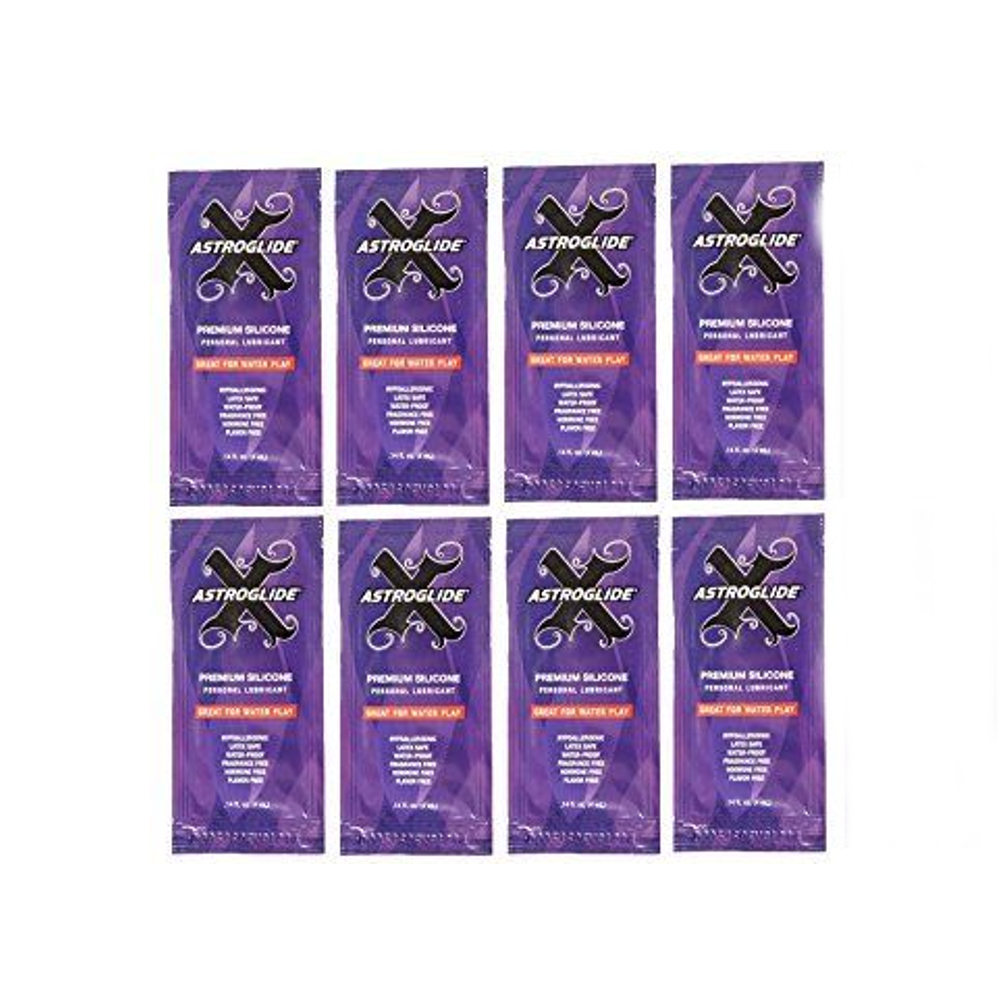 8 Pack Astroglide Personal 0.14oz Lubricant 1 Packet Each