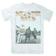FEA FEA-BY1152-M Beastie Boys Halftone T-Shirt - White - Medium