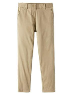 Wonder Nation Girls 4-16 School Uniform Stretch Twill Skinny Pants